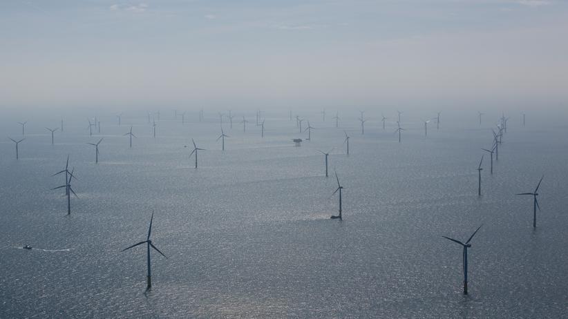 Enercon: Windkraftpark in der Nähe von Helgoland: In Deutschland stockt der Ausbau der Windenergie.