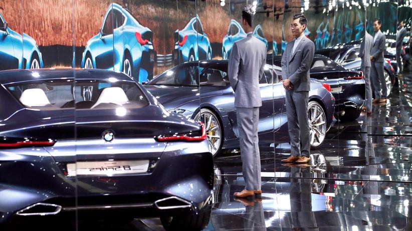 Autoindustrie: Ein BMW auf der Automesse in Peking im Frühling dieses Jahres.