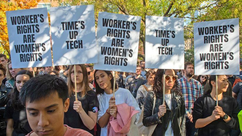 Google: Beschäftigte von Google protestieren gegen Sexismus
