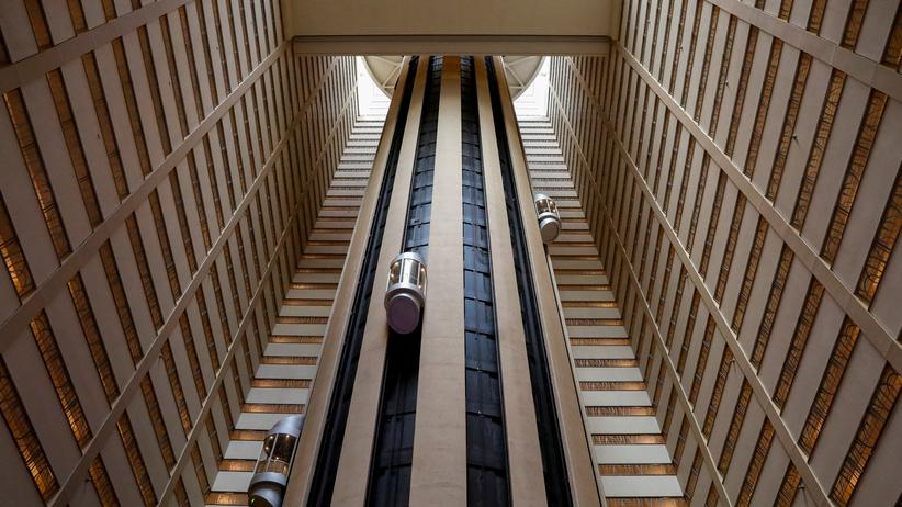 Hackerangriff: Die Lobby des Marriott-Marquis-Hotels am Time Square in New York