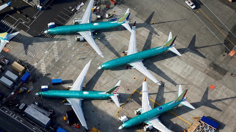 Luftfahrt: Boeing 737-Max-Flugzeuge parken im Boieng-Werk in Renton, im US-Bundesstaat Washington.