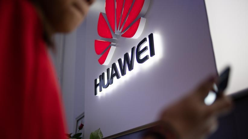 5G-Netz: Das Huawei-Logo in Peking