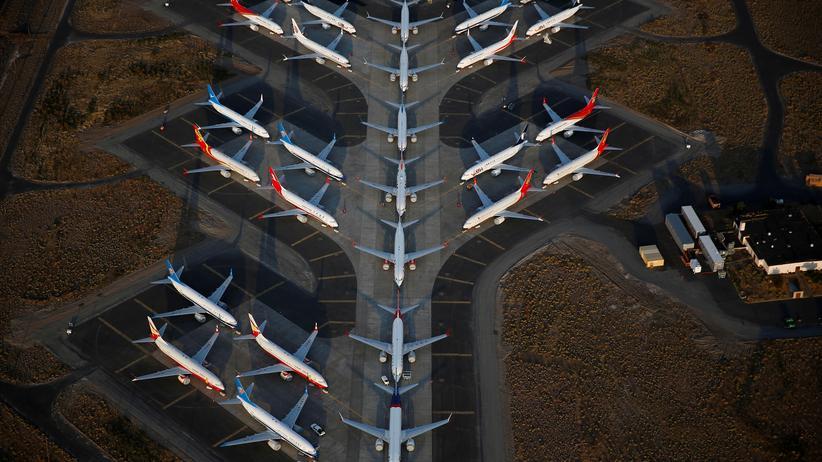 Boeing: Maschinen vom Typ 737 Max parken auf der Boeing-Basis bei Washington. American Airlines will vor März nicht wieder mit den Jets fliegen.