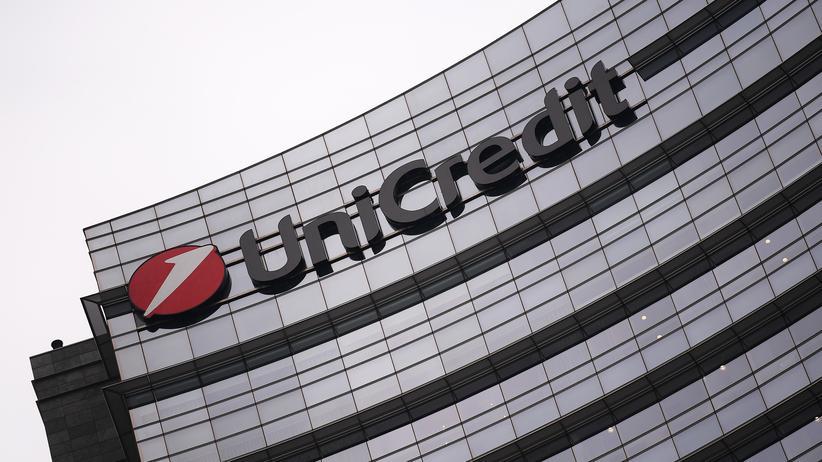 Großbank: Das Unicredit-Logo an einem Gebäude in Mailand