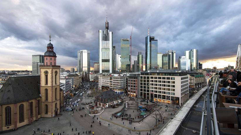 Konjunktur: Das Finanzzentrum in Frankfurt am Main