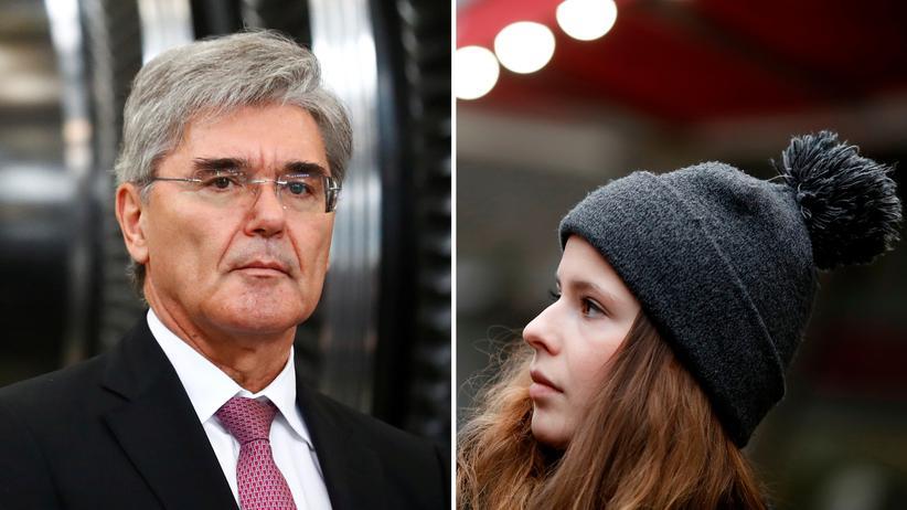 Siemens: Siemens-Chef Joe Kaeser und Klimaaktivistin Luisa Neubauer
