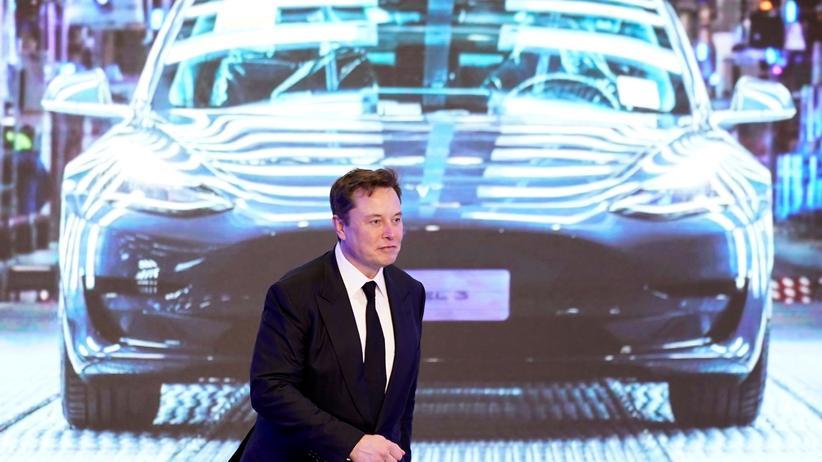Tesla: Tesla-Chef Elon Musk im Januar in Shanghai