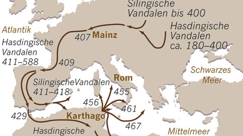 Germanische Stämme Karte.Archäologie Zeit Online
