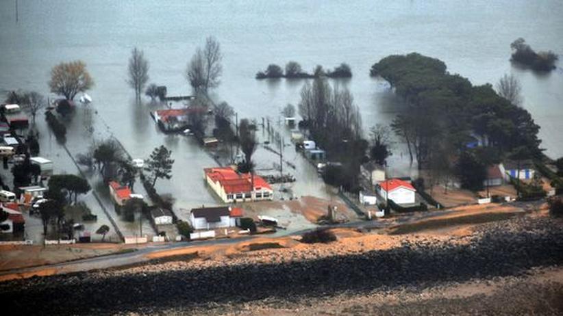 Orkan Xynthia Verwüstung Frankreich