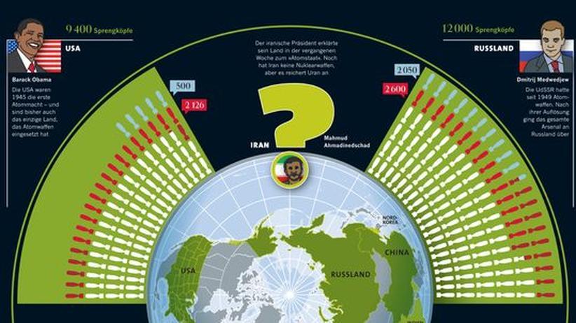 Atomare Rüstung: Bitte klicken Sie auf das Bild, um die Infografik als PDF-Dokument herunterzuladen