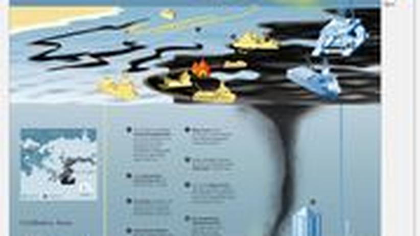 Ölpest Umweltkatastrophe Louisiana USA Golf von Mexiko