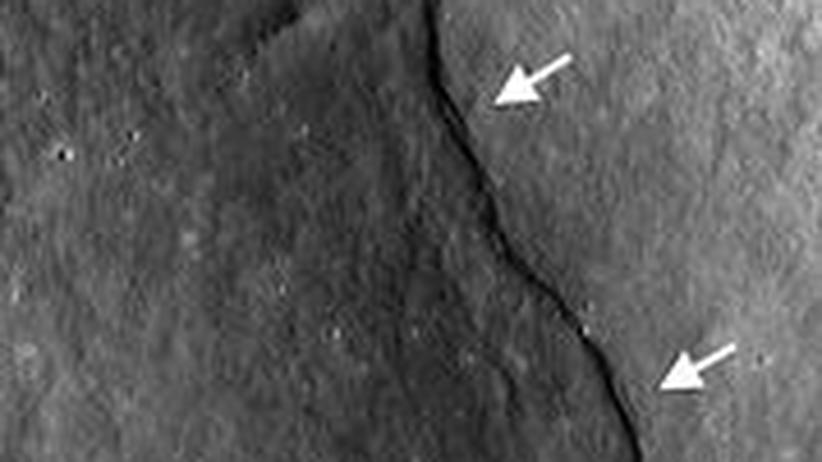 Mond Falte Abhang Kamera Geologie