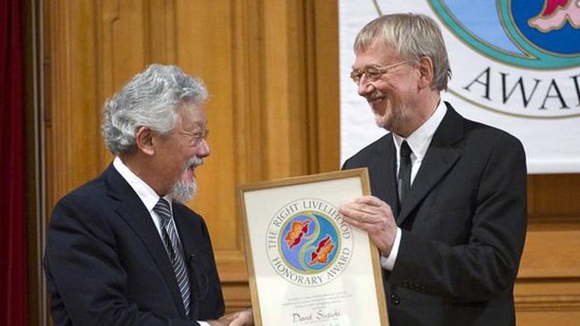 David Suzuki erhält 2009 den Right Livlihood Award