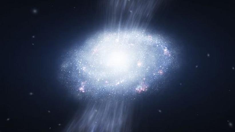 Astronomie: Junge Galaxien, die Staubsauger des Alls