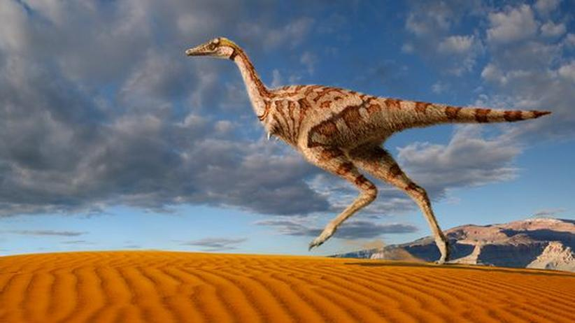 """Rekonstruktion des Sauriers """"Linhenykus monodactylus"""""""
