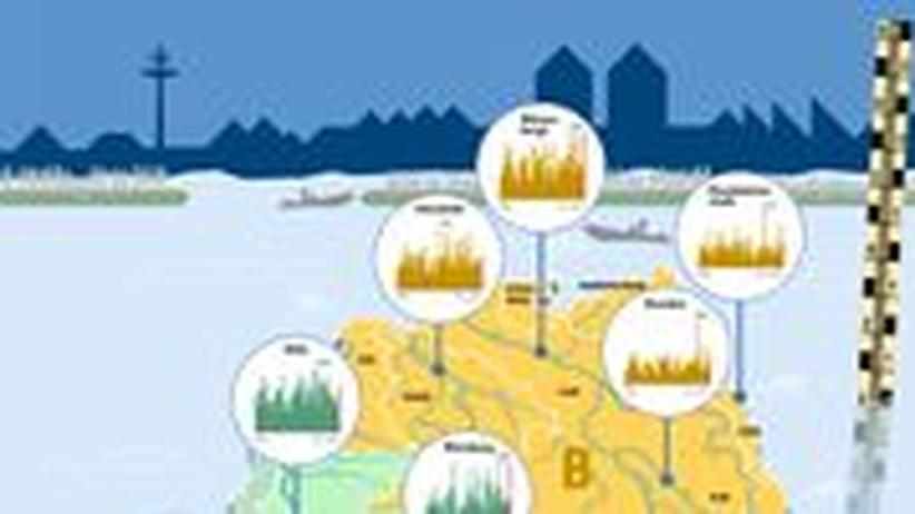 Infigrafik Hochwasser Flut Katastrophe