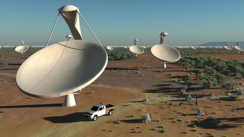Radioastronomie: Antennen-Krake auf Weltraummission