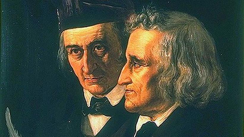 Sammler, Forscher, Gelehrte: Wilhelm (links) und Jacob Grimm auf einem Ölgemälde von Elisabeth Jerichau-Baumann von 1855