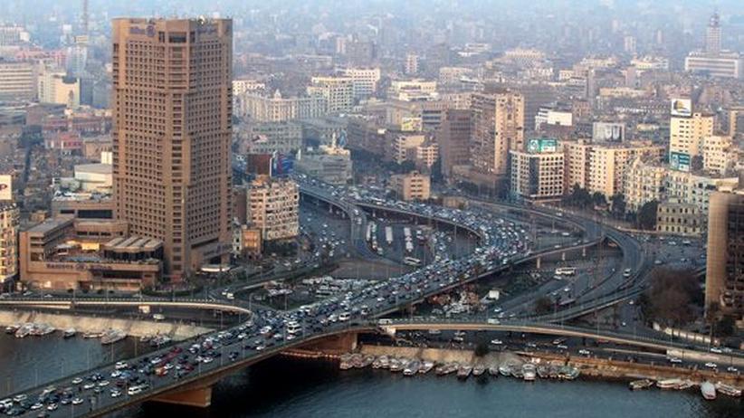 Teil der Großstadt Kairo, aufgenommen 2012
