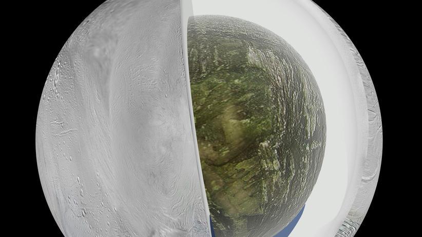 Enceladus Saturn Eispanzer Fontäne