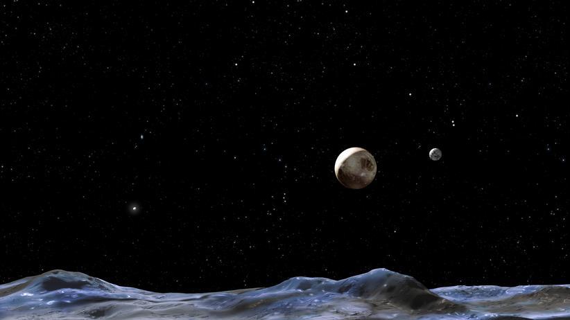 Astronomie Charon Pluto Mond Wasser