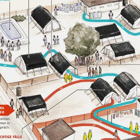 Ebola: Ein Camp gegen die Seuche