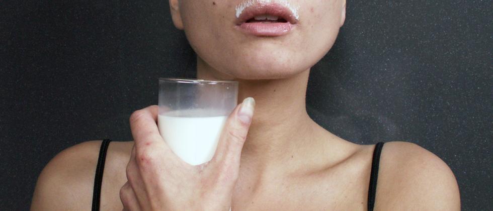 Milch Getränk Frau