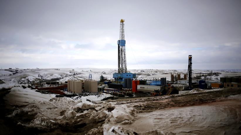 Gasförderung: Fracking-Anlage in Williston, North Dakota.