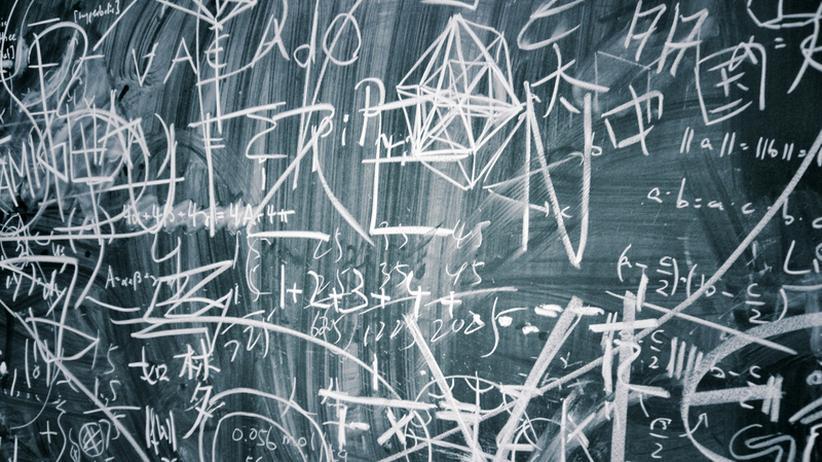 Tafel Kreide Mathe Formel