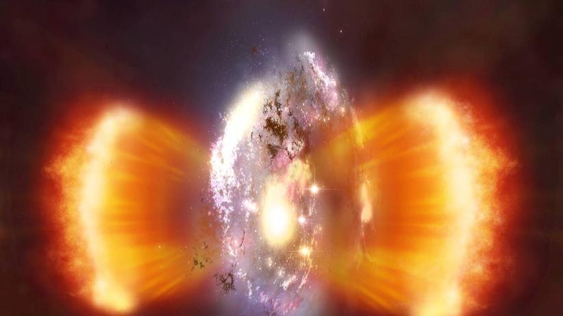Galaxie J1237 Schwarzes Loch