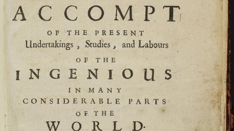 """""""Philosophical Transactions"""": Ich veröffentliche, also bin ich"""