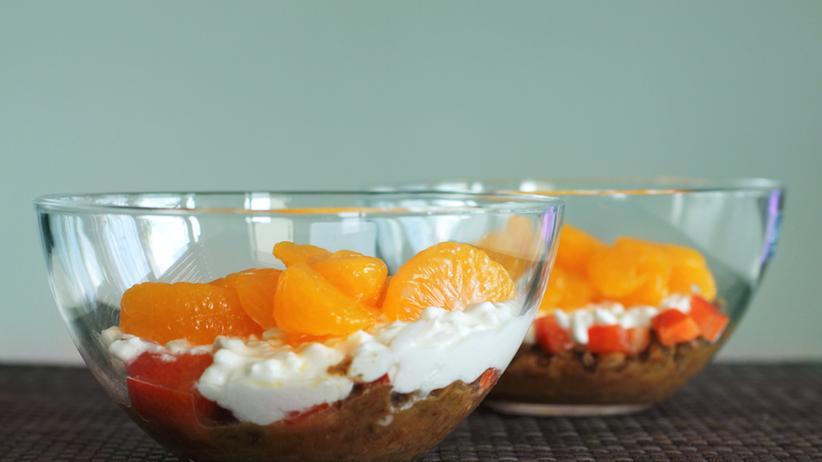 Obst Dosen Mandarinen Schale Dessert