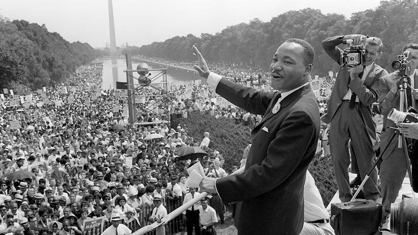 """Martin Luther King während seiner berühmten Rede """"I have a dream"""" vor 50 Jahren"""