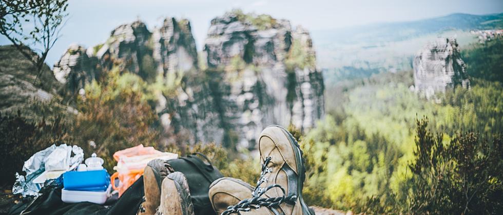 Pause beim Wanderausflug