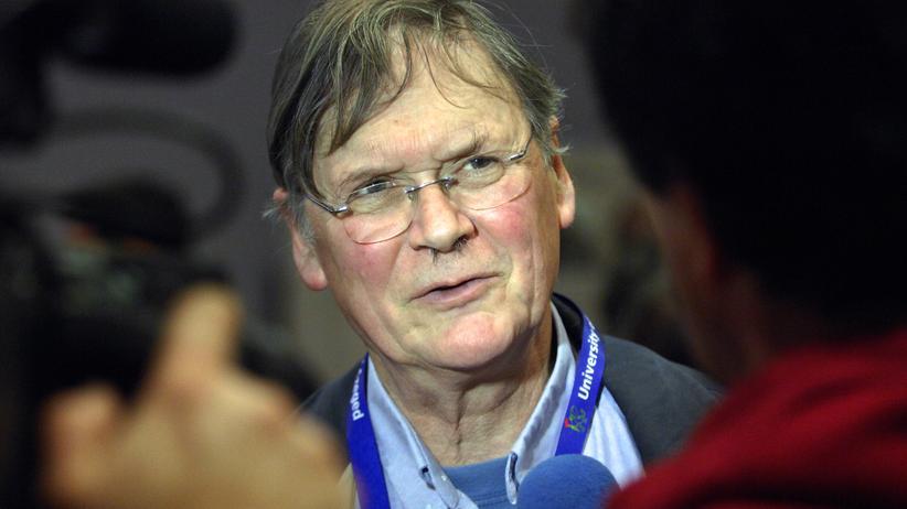Der britische Biochemiker und Nobelpreisträger Tim Hunt in Szeged im Jahr 2012