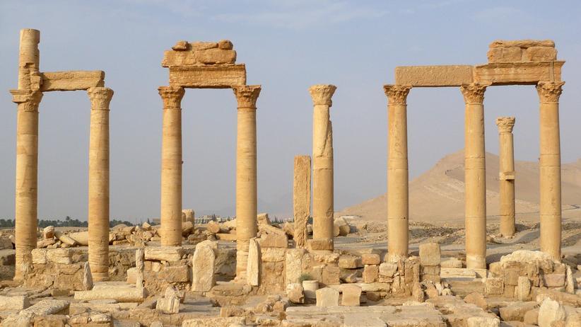 Wissen, Islamischer Staat, Unesco-Weltkulturerbe, Kriegsverbrechen, Islamischer Staat, Brand, Sprengsatz, Selbstmordattentäter, Syrien
