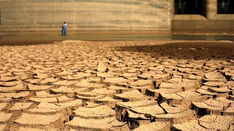 Klimakonferenz 2015: Die Dürreperiode in Brasilien im Jahr 2014 hat den Boden in Braganca Paulista nahe Sao Paulo ausgetrocknet.