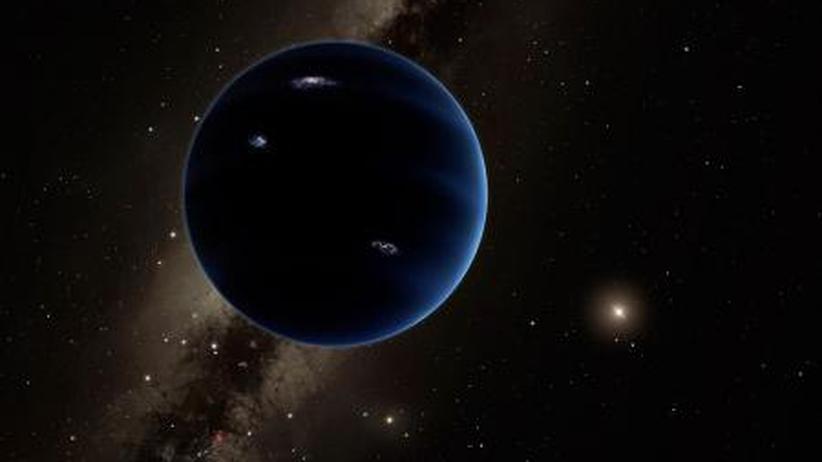 """Sonnensystem: Die künstlerische Darstellung zeigt """"Planet 9"""" aus der Entfernung mit Blick auf die Sonne."""