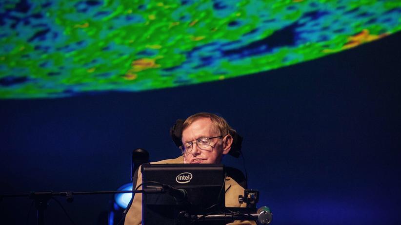 Physiker: Der britische Physiker Stephen Hawking hält einen Vortrag auf dem Starmus Festival in Spanien.