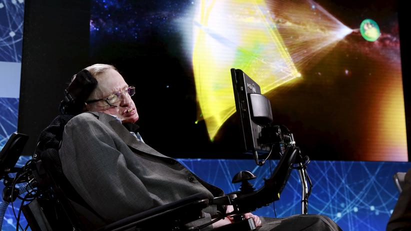 Raumfahrt: Er träumt von Tausenden kleinen Raumschiffen, die durchs All reisen und Regionen fernab unseres Sonnensystems erforschen: der Physiker Stephen Hawking.