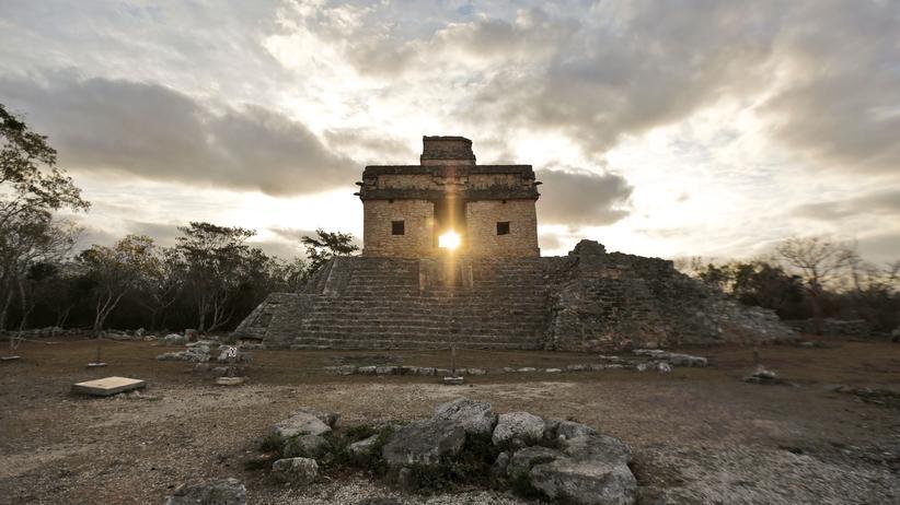 Maya-Kultur: Ein Maya-Tempel im mexikanischen Staat Yukatan.
