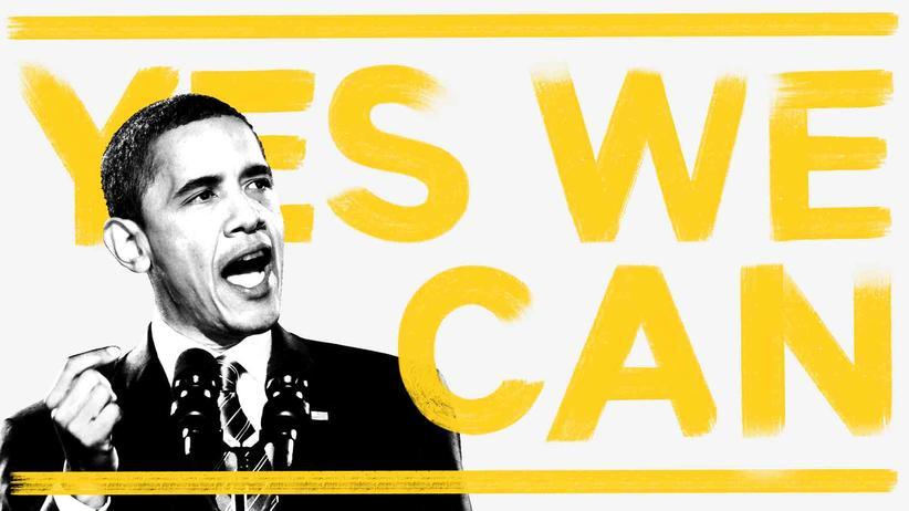 Rhetorik: Gewerkschafter, die Beatles, Bob der Baumeister – sie alle haben diesen Satz gesagt. Bei Barack Obama wird er zum Wahlkampfslogan – und zum rhetorischen Höhepunkt seiner Rede nach der ersten gewonnenen Wahl.