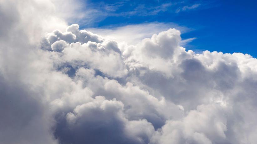 Wolken: Wolken, aufgenommen aus einem Flugzeug