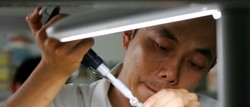 Gentechnik China Labor Pipette DNA Erbgut