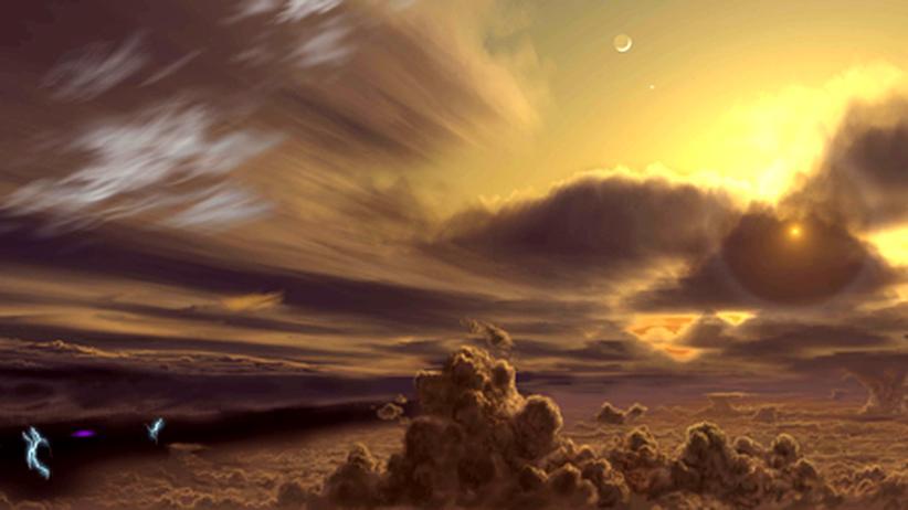 Juno: Wie sieht es unter der dicken Wolkenschicht auf dem Jupiter aus? Raumsonde Juno soll es herausfinden, erste Visionen von Künstlern gibt es schon.