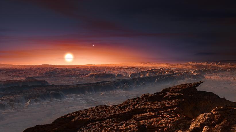 Exoplanet Proxima-b Planet Zwergstern