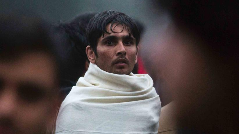 Flüchtlinge: Ein Mann im Jardin d'Eole-Flüchtlingscamp in Paris