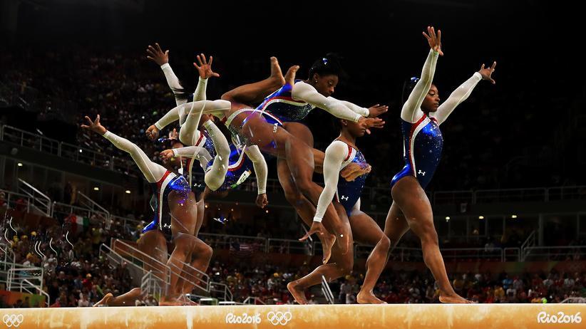 Genetik: Die Turnerin Simone Biles startete mit 19 Jahren in Brasilien zum ersten Mal bei Olympischen Spielen. Sie holte vier Mal Gold.