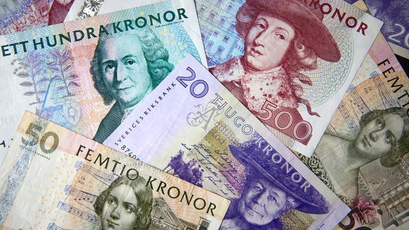 Bargeld Schwedische Kronen Schein Abschaffung