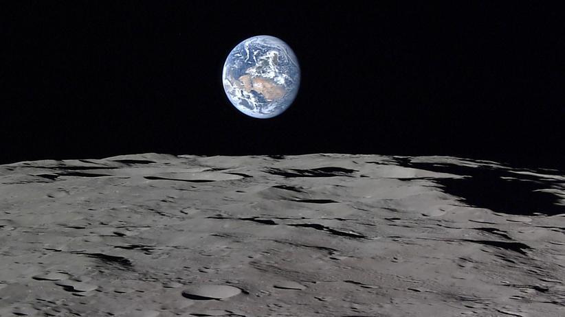 Raumsonde Kaguya Mond Mondoberfläche